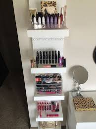 IKEA Lack shelves for storing makeup