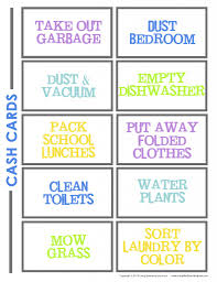 chore chart template for teenagers how to make a chore chart for kids living well spending less