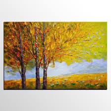 large canvas wall art autumn tree painting canvas painting abstract landscape art on large canvas wall art trees with large canvas wall art autumn tree painting canvas painting