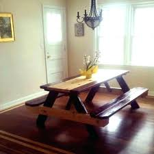 awesome design picnic style dining room table indoor tables rustic kitchen