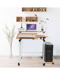 Home office standing desk Stand Up Modern Adjustable Height Mobile Laptop Computer Standing Desk With Keyboard Tray laptop Table Pc Table People Hot Deals 19 Off Modern Adjustable Height Mobile Laptop Computer