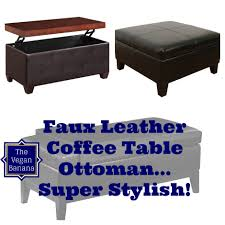 Coffee Table Ottoman 5 Faux Leather Coffee Table Ottoman Combos For Your Stylish Home