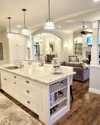 Lights, Granite, Gray Wall Color, Off White Cabs In White Kitchen