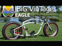 big vintage bicycle eagle fat tire beach cruiser bike going for a
