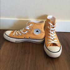 converse yellow high tops. converse shoes - mustard yellow high top tops