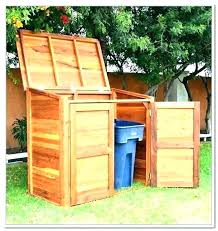 outdoor trash can enclosure plans bin storage shed f outside box