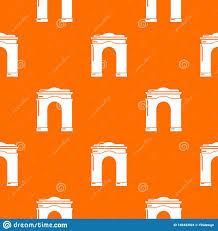 Archway Graphic Designs Archway Big Pattern Vector Orange Stock Vector