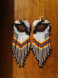 Native American Beaded Earrings Patterns Free Unique Decoration