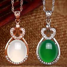 whole woman elegant beautiful big oval rhinestones heart pendant fashion jewelry link chain necklaces creative silver heart necklace pendants for men
