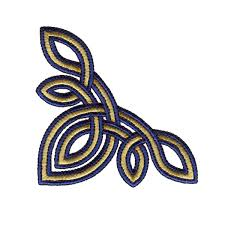 Celtic Knot Embroidery Designs Large Triangle Celtic Knot Embroidery Design