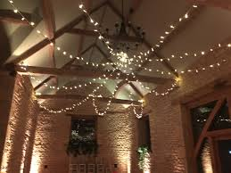 fairy lighting barn at upcote
