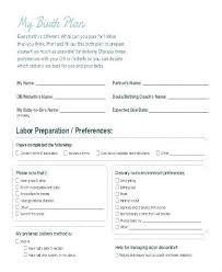Editable Birth Plan Template Printable Birth Plan Template Birth Plan Template Photo Printable