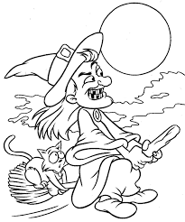 Small Picture Halloween Pages For Kids To Color Witch Hallowen Coloring pages