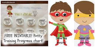 printable potty training progress chart for toddlers picmonkey collage