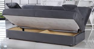 sofa bed with storage. Delighful Bed Regata Rainbow Dark Gray Convertible Sofa Bed With Storage Inside With