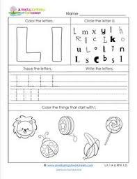 abc worksheets letter l