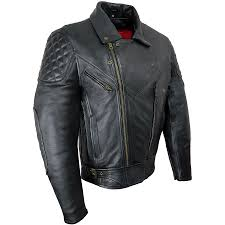 hover to zoom or to enlarge rida tec elite black leather jacket