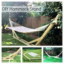 hammock stand indoor chair wood wooden diy portable