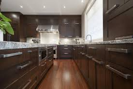 cabinet handles for dark wood. Cabinet Handles For Dark Wood Kitchen Transitional With Cabinets Stainless Steel Appliances Recessed Lighting Pin-insta-decor.com