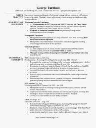 Army Resume Examples Fresh Warehouse Logistics Specialist Resume