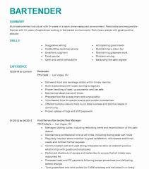 EyeGrabbing Bartender Resumes Samples LiveCareer Extraordinary Bartending Resume Skills