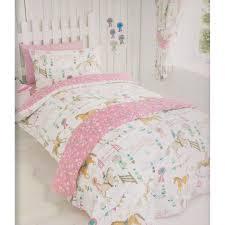 horses animals girls single quilt duvet cover pillowcase bedding bed set new co uk kitchen home