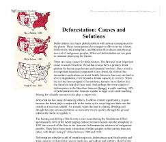 deforestation causes and solutions university biological document image preview