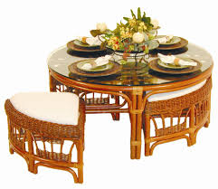 Game Table And Chairs Set Game Table And Stools By Palm Springs Rattan Wolf And Gardiner