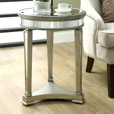 silver round end table mirrored end table silver table numbers for wedding reception silver round end table