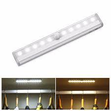 Us 708 Pir Bewegingssensor Led Tube Aaa Batterijen Led Bar Licht Kast Led Lamp Voor Slaapkamer Garderobe Keuken Closet 610 Leds In Led Lampen