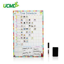 Magnetic Dry Erase Weekly Schedule Calendar Daily Planner Drawing Time Schedule Writing To Do List Reward Chart Wall Sticker Kids Wall Stickers Kids