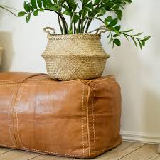 tan leather ottoman. Modren Tan Double Leather Ottoman U2013 Tan And A