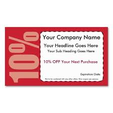 10 Off Coupon Template 10 Off Coupon Business Cards Make Your Own Business Card