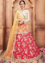 Bridal Lehenga Choli Designs With Price Red Embroidered Bridal Lehenga Choli With Dupatta