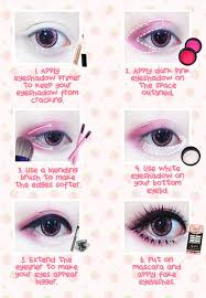thanks to ichigoflavor for this kawaii eye makeup tutorial using beuberry teddy bear pink circle lenses
