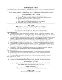 Sample Resume Template Resume Samples Resumes For Banking Professionals Investment 42