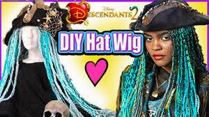 disney descendants 2 uma pirate wig hat diy disney princess makeup tutorial mal evie what s my name