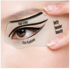 1 pair easy eyeliner stencil cat eye smokey eye makeup top bottom eyeline