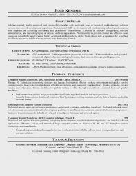 Computer Technician Resume Objective Impressive Computer Technician Resume Famous Objectives Sample For