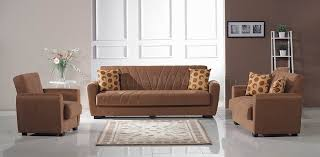 Tampa Sofa Bed in Light Brown Fabric w Optional Loveseat & Chair