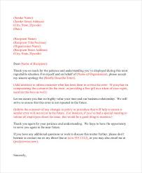 Business Apology Letter For Mistake Fascinating Professional Apology Letter 48 Free Word PDF Format Download