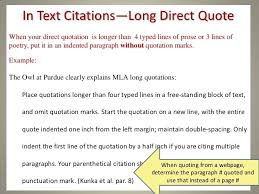 Mla Long Quote Interesting How To Cite A Quote In Mla Quotes