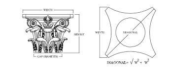 Corinthian Column Cap Dimensions