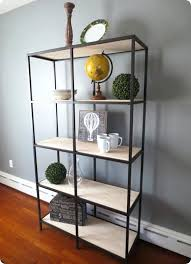 metal and glass bookcase bookshelf awesome modern bookcases cube storage boxes light brown with black metal