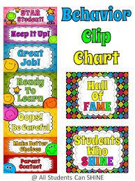 Behavior Management Calendars And A Clip Chart Art