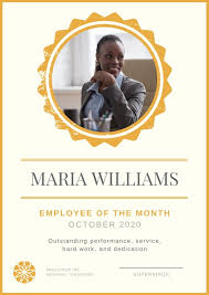 employee of month employee of the month poster templates by canva