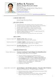 Sample Resume Format Sample Of Resume format Philippines Fishingstudio 57