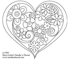 Free Hand Embroidery Patterns Magnificent Free Hand Embroidery Pattern Heart O' Flowers Hand Embroidery