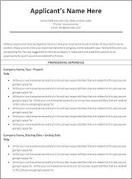 Chronological Resume Template Free Chronological Resume Template