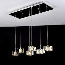 crystal pendant lighting for kitchen. crystal pendant lights kitchen chrome lighting rectangle lamp home modern led for n